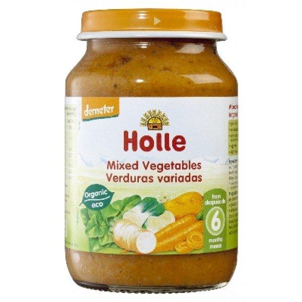 Holle Био бебшко зеленчуково пюре /Зеленчуков микс/ 6 м 190 гр.